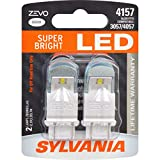 SYLVANIA - 4157 ZEVO LED White Bulb - Bright LED Bulb, Ideal for Daytime Running Lights (DRL) and Back-Up/Reverse Lights (Contains 2 Bulbs)