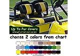 Club Car Pre-2000 DS Custom 2-Stripe Golf Cart Seat Cover Set Made...