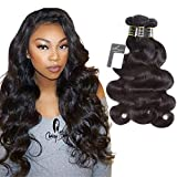 Puddinghair Upgrade 8A Grade Body Wave Bundles 10'12'14'-Unprocessed Virgin Brazilian Human Hair Bundles Natural Black Brazilian Human Hair Weft Body Wave Remy Human Hair Weave