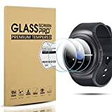 Diruite 4-Pack for Samsung Gear S2 Screen Protector Tempered Glass [2.5D 9H Hardness] [Anti-Scratch] [Bubble-Free] - Permanent Warranty Replacement