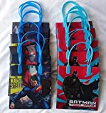 12 pcs Batman vs Superman Dawn Justice Authentic Licensed Reusable Small Party Favor Goodie Gift Bags