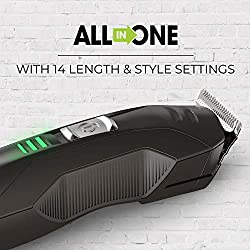 Remington PG6025 All-in-1 Lithium Powered Grooming Kit, Beard Trimmer (8 Pieces)  Image 1