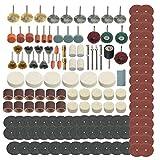 Maikouhai 347Pcs Grinding Sanding Polishing Tool Wheel Accessory Kit Set, Rotary Tool Accessories Mini Saw Attachment Drill Press Combo Kit Bits Stylus