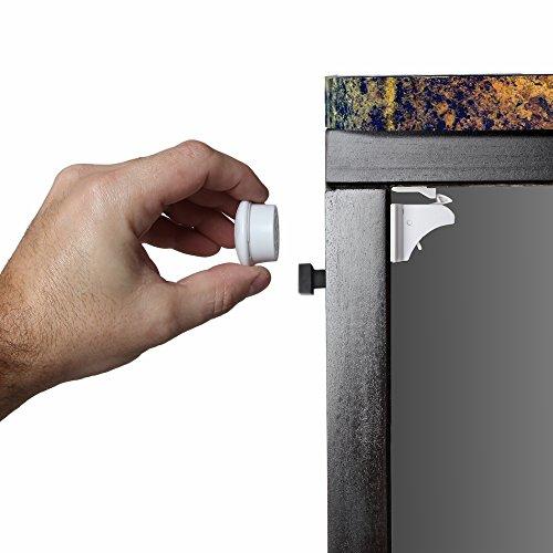 Jambini Magnetic Cabinet Locks - Child Safety Locks   Baby Proofing Cabinets System (4 Locks + 1 Key)