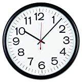 Universal 11381 Indoor/Outdoor Clock, 13 1/2', Black