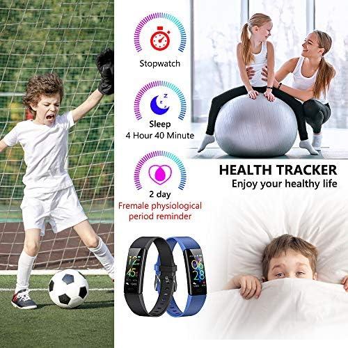 K-berho Slim Fitness Tracker for Kids Women Men,Heart Rate Monitor,IP68 Waterproof Activity Tracker for Boys&Girls,Blood Pressure,11 Sport Modes Health Smart Watch with Pedometer 5