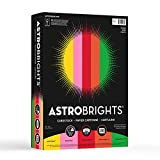 Neenah Paper Astrobrights Cardstock, 8.5' x 11', 65 lb / 176 gsm, 'Vintage' 5-Color Assortment, 250 Sheets, Multi-Colored (21003)
