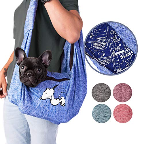 Peanuts Dog Sling for Small Pets   Comfortable with extra Safety Features Dog Carrier Sling, Airline Approved   Dog Sling Carrier with Extra Safety Strap l Pet Sling for Small Dogs with Comfy Strap Sh 1