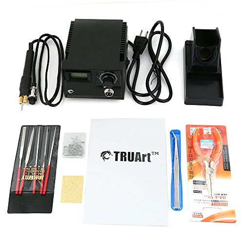 TRUArt Stage 2 Professional Woodburning Detailer 60W Tool with Digital Temperature Control and 20 Tips