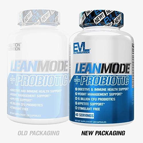 Evlution Nutrition Leanmode + Probiotic, Advanced Probiotic Capsule Supplement, 15 Billion CFUs per Serving, Digestive Support & Gut Health (40 Servings) 4