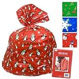 2 Giant Christmas Gift Bag 36x44' W/tie & Gift Card Set of 2