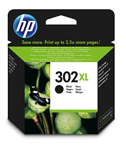 HP F6U68AE 302XL High Yield Original Ink Cartridge, Black, Pack of 1