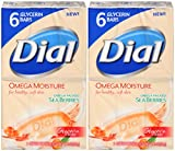 Dial Omega Moisture Sea Berries Glycerin Bar Soap, 6 Count, 4 Ounce (Pack of 2) Total 12 Bars
