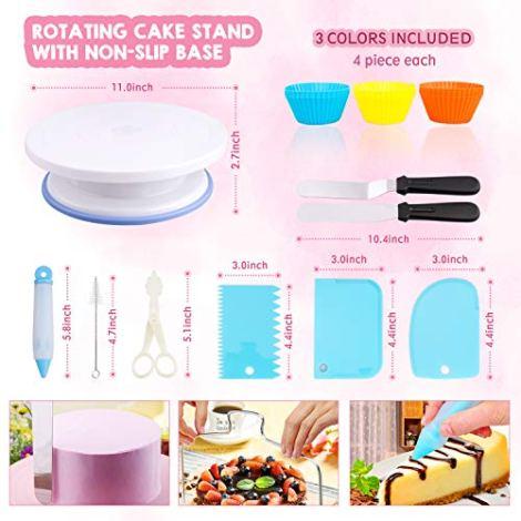 106 pezzi decorazione torte