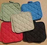 The Home Store Cotton Pot Holders, 5 (FIVE) Sets of 2-ct. Color Variety Pack