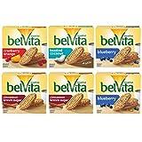 belVita Breakfast Biscuits Variety Pack, 4 Flavors, 6 Boxes of 5 Packs (4 Biscuits Per Pack)