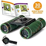 Aluminum Grade BINOCULARS FOR KIDS With BOOK And COMPASS | KIDS BINOCULARS With Clear Vision | Kids Explorer Kit With Whistle | Binoculars Kids For Both Boys And Girls | Toddler binoculars | Top Gift