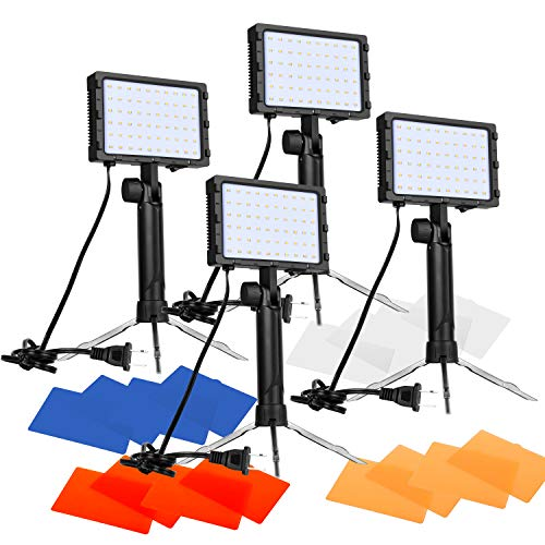 Emart-60-LED-Continuous-Portable-Photography-Lighting-Kit-for-Table-Top-Photo-Video-Studio-Light-Lamp-with-Color-Filters-4-Packs