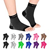 NEWZILL Plantar Fasciitis Socks with Arch Support, Best 24/7 Foot Care Compression Sleeve, Eases Swelling & Heel Spurs, Ankle Brace Support, Increases Circulation, Relieve Pain Fast (L/XL, Black)