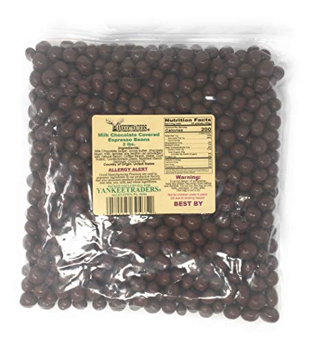 Yankee Traders Milk Chocolate Covered Espresso Beans, 2 Pound
