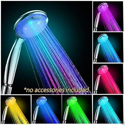 Lord of the Deals - LED Multicolor 7 Colors Rainbow Shower head, Water Glow LED light Shower head