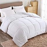 WARM HARBOR Queen All Season White Down Alternative Quilted Comforter and Duvet Insert - Luxury Hotel Collection Premium Lightweight(Queen,White)