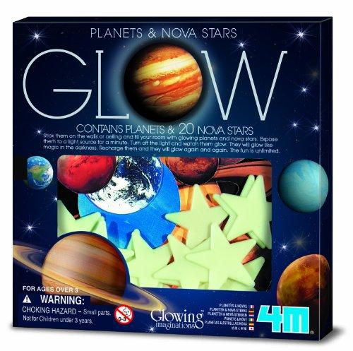 Sistema Solar 3D Brillante de 4 m, Planetas y Estrellas Nova, Glow-in-The-Dark Verde