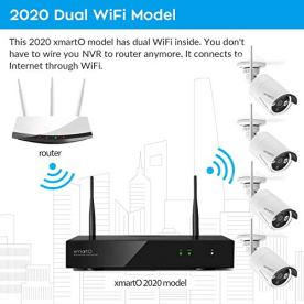 2020-Dual-WiFi-8-CAM-1080p-xmartO-Home-Security-Camera-System-Wireless-Security-Camera-System-with-4X-1080P-WiFi-IP-Cameras-for-Home-and-Business-Surveillance-Dual-WiFi-Routers-in-NVR-1TB-HDD
