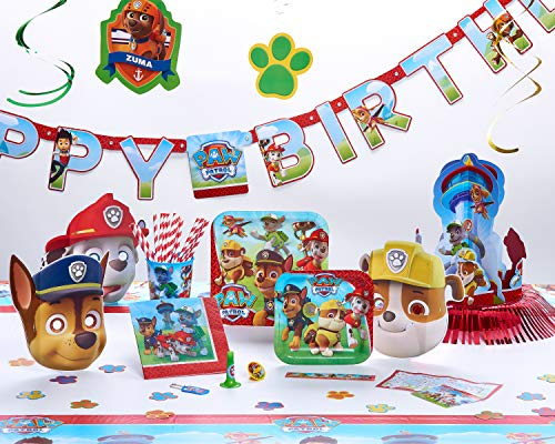 American Greetings Paw Patrol Party Bundle Pack for 16 guests, 103 pieces