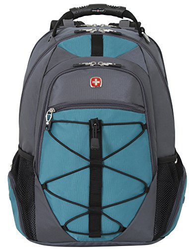 Swiss Gear SA6799 Gray with Teal TSA Friendly ScanSmart Laptop Backpack - Fits Most 15 Inch Laptops and Tablets