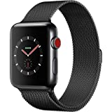 Apple Watch Series 3 42mm Space Black Stainless Steel Case with Space Black Milanese Loop (GPS + Cellular) MR1L2LL/A (Renewed)