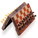ColorGo Magnetic Travel Chess Set, Portable Mini Chess Board Game for Adults and Kids