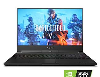 Gigabyte AERO 15 XA-7US2130SH 15' Thin Bezel Sharp 240Hz FHD, Intel i7-9750H, NVIDIA GeForce RTX 2070 Studio Ready, Samsung 16GB RAM, 512GB Intel 760P SSD, W10 Home, RGB KB, 94W Ultra Slim Laptop