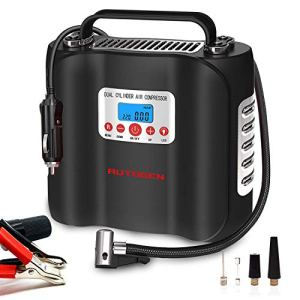 AUTOGEN Double Cylinder Air Compressor Tire Inflator 12V Heavy Duty Air Pump for Car Tires 150PSI Tire Inflator with… 51GyJ 2BsYivL