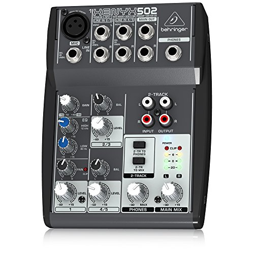 Behringer Xenyx 502 Premium 5-Input 2-Bus Mixer with XENYX Mic Preamp and British EQ