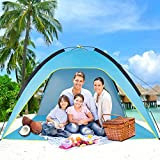 Sumerice Family Beach Tent and Sun Shade UV Cabana Shelter | Camping, Hiking, Fishing | Lightweight, Portable, Breathable, and Windproof | Collapsible (Blue)