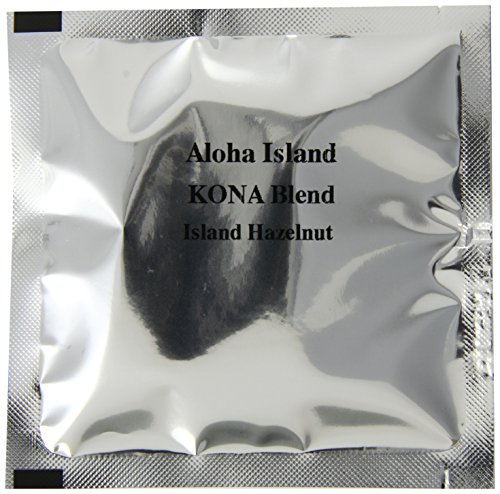 Aloha Island Coffee KONA-POD, Hazelnut Medium Roast, Kona & Hawaiian Coffee Blend, 18-Count Coffee Pods