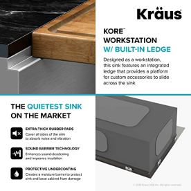 KRAUS-KWU110-32-Kore-Workstation-32-Inch-Undermount-16-Gauge-Single-Bowl-Stainless-Steel-Kitchen-Sink-with-Integrated-Ledge-and-Accessories-Pack-of-5
