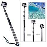 Smatree Carbon Fiber Detachable Extendable Floating Pole Compatible for GoPro Hero Fusion/7/6/5/4/3+/3/Session/Gopro Hero 2018/DJI OSMO Action Camera