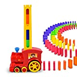ADSRO Children's Intelligence Domino Electric Train, Rally Electric Train and Sound and Light Automatic Chess Educational Engineering Toy Set Suitable for Boys and Girls Aged 3 and Over