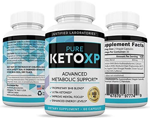 Pure Keto Xp Pills Advanced BHB Ketogenic Supplement Exogenous Ketones Ketosis for Men Women 60 Capsules 2 Bottles 7
