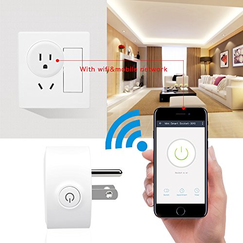 Wifi Smart Plug, Posunitech Mini Smart Wifi Outlet Works with Amazon Alexa,  No Hub Required, Remote Control By Smart Phone from Anywhere Anytime