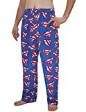 Mens DC COMICS SUPERMAN Polar Fleece Sleepwear / Pajama Pants XL Multicolor