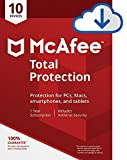 McAfee Total Protection|Antivirus| Internet Security| 10 Device| 1 Year Subscription| PC/Mac Download|2019 Ready