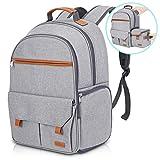 Endurax Waterproof Camera Backpack for Women and Men Fits 15.6' Laptop with Build-in DSLR Shoulder Photographer Bag (Grey)