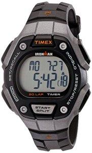 Timex Women's Ironman 30-Lap Digital Quartz Mid-Size Watch, Black/Silver-Tone/Orange - TW5K89200
