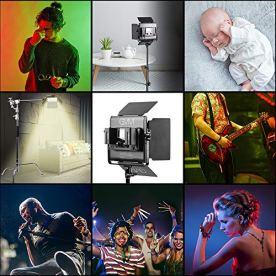 GVM-RGB-LED-Video-Light-Photography-Lighting-with-APP-Control-800D-Video-Lighting-Kit-for-YouTube-Studio-2-Packs-Led-Panel-Light-3200K-5600K-8-Kinds-of-The-Scene-Lights-CRI-97