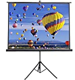 VIVO 84' Portable Indoor Outdoor Projector Screen, 84 Inch Diagonal Projection HD 4:3 Projection Pull Up Foldable Stand Tripod (PS-T-084)
