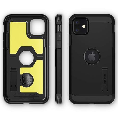【Spigen】 スマホケース iPhone 11 ケース 6.1インチ 対応 超耐衝撃 新モデル スタンド機能 米軍MIL規格取得 カメラ保護 傷防止 衝撃 吸収 Qi充電 ワイヤレス充電 タフ・アーマー XP 076CS27439 (ブラック)