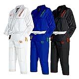 Sanabul Kids Highlights Brazilian Jiu Jitsu BJJ Gi (White, K2)